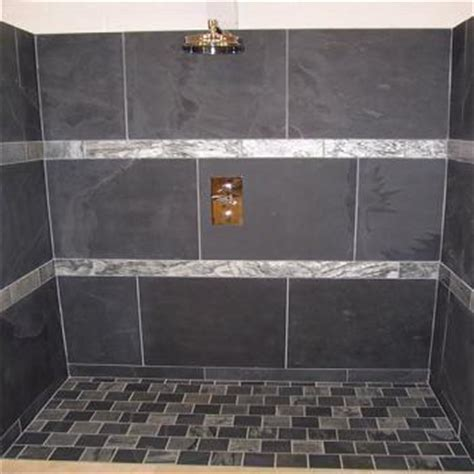 Charcoal Black Slate Bathroom Tiles   Heritage Stone