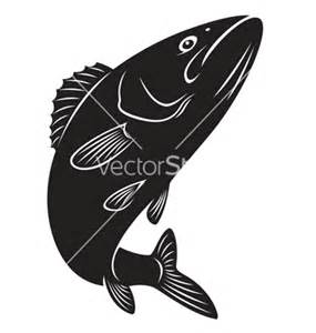 Bass Vector Fish Silhouettes