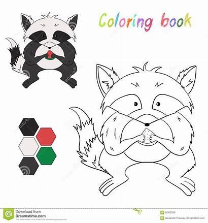Raccoon Coloring Raton Laveur Coloriage Livre Layout
