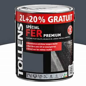 Peinture Bois Exterieur Tollens : peinture fer tollens gris anthracite brillant 2l 20 ~ Dailycaller-alerts.com Idées de Décoration