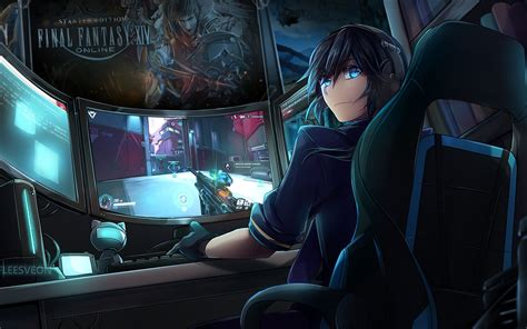 Cool Anime Gamer Wallpapers Wallpaper Cave