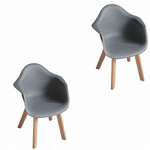 Fauteuil De Bureau Enfant : lot de 2 fauteuils kiddoz gris anthracite chaise et ~ Teatrodelosmanantiales.com Idées de Décoration