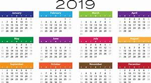 Kalender 18 19 : ordem do dia calend rio 2019 gr fico vetorial gr tis no ~ Jslefanu.com Haus und Dekorationen
