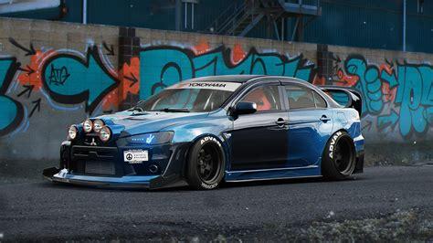 1080p Mitsubishi Wallpaper Hd by Fondos De Pantalla Superdeportivo Azul Mitsubishi Lancer