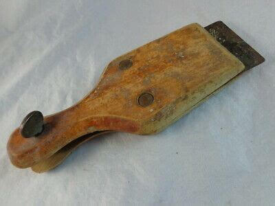 vintage paint scraper wooden handle   tool ebay