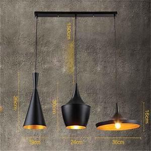 Luminaire 3 Suspensions : stoex 3pcs e27 m tal vintage suspensions luminaire lampes retro pendentif clairage industriel ~ Teatrodelosmanantiales.com Idées de Décoration