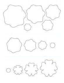 Felt Flower Pattern Template
