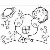 Alien Teeth Space Tentacles Coloring Printable sketch template