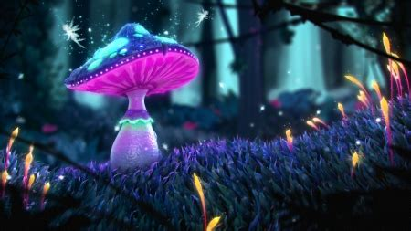 magical mushroom fantasy abstract background