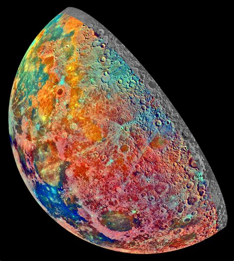 what is the color of the moon file moon crescent false color mosaic jpg