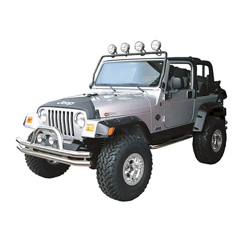 light bar on jeep new rugged ridge frame light bar 97 06 tj wrangler lj