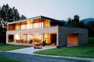 bungalow moderne architektur austrian wooden houses timber clad inside and out