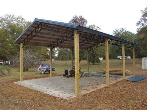 Steel Pole Barn Kits by Metal Pole Barns 20 X 30 Pole Barn With Steel Truss
