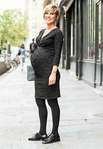 Bottines Avec Robe : 10 robes de grossesse branch es pour tre look e en hiver ~ Carolinahurricanesstore.com Idées de Décoration