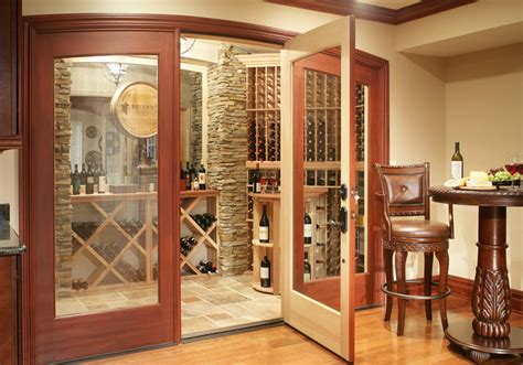 basement remodel traditional wine cellar  york