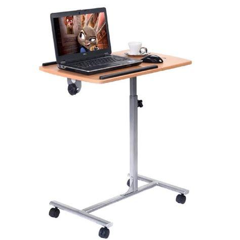 bureau pc portable bureau a roulettes pour pc portable
