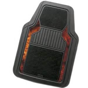 kraco heavy duty rubber carpet black mat set 4 piece