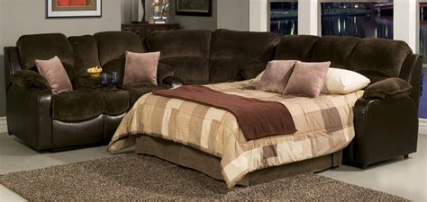 Sectional Sofas With Recliners And Sleeper by Casual Styled Reclining Sectional Sofa With Sleeper