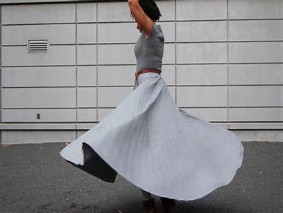 Skirt Gifs Animated Dresses Twirling Face Twirl