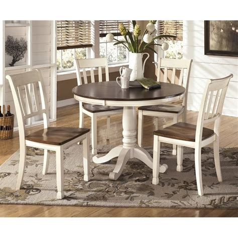 white kitchen furniture sets whitesburg 5 dining set in brown and