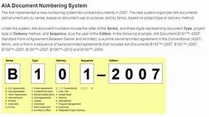 Aia document numbering system for Document management system numbering