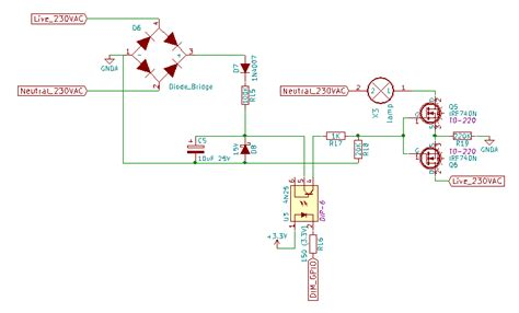 Mains Problems With Back Mosfet Dimmer For