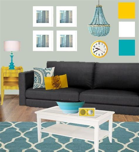 grey yellow teal living room zion star