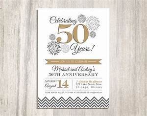 Free 50th Birthday Invitation Templates Printable Wedding Anniversary Party Printable Invitation 50th