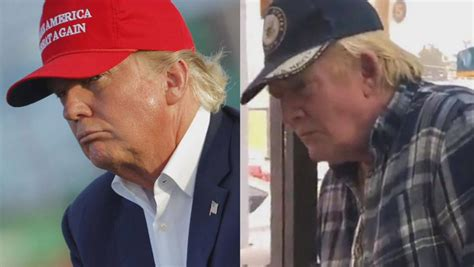trump alike donald double right left abuzz presidential mysterious internet lookalike inside surveillance getty edition