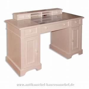 Schreibtisch Mit Aufsatz : sbt 46 sta schreibtisch mit aufsatz wei landhausstil massiv ~ Orissabook.com Haus und Dekorationen