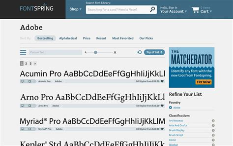 Pro Font Collections By Adobe Font Folio 11 Release