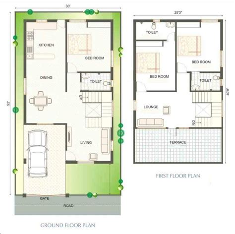 house plan designers 2 bedroom house designs in india