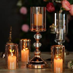 15, u0026quot, , tall, gold, metal, pillar, candle, holder, with, hurricane, glass, tube, -, walmart, com