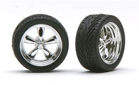 monogram 18 scale white wall tires chrome t 39 s torq thrust wheels with tires 18 quot set of 4
