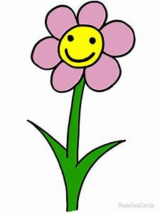 QuotHappy Smiling Flower Pink Petalsquot Stickers By
