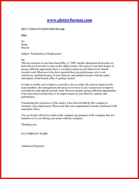 separation letter sle apa exle