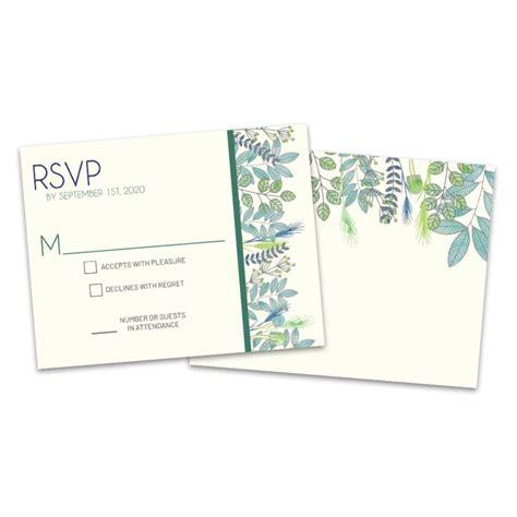 Personalized Botanical Wedding RSVP Cards Walmart com