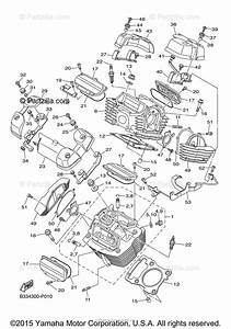 Yamaha Motorcycle 2015 Oem Parts Diagram For Cylinder Head