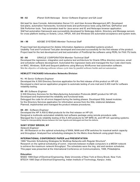 Qa Engineer Resume by Senior Quality Engineer Resume Senior Free Engine Image For User Manual
