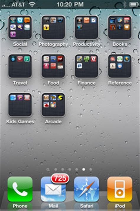 how do you create a folder on iphone organizing your iphone 4s apps with folders dummies