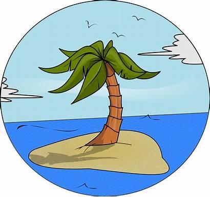 Island Clipart Clip Cartoon Cliparts Paradise Isle