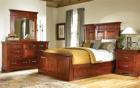 mahogany storage bed classic king and queen solid bedroom furniture bedroom