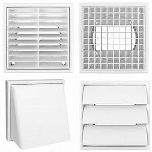 Quality White Square 100mm  4 U0026quot  Grille Ducting Air Vent