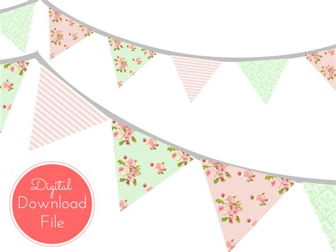 shabby chic banner pink mint shabby chic banner magical printable