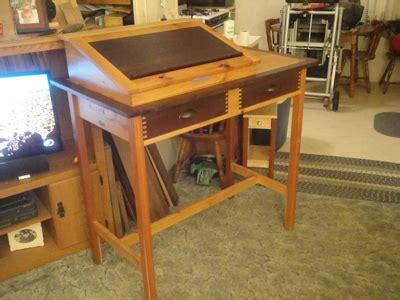 standing writing desk woodworking blog