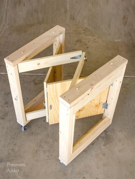 diy folding mobile workbench modifications popular