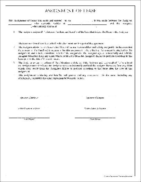termination of assignment of leases and rents form free simple assignment of lease from formville