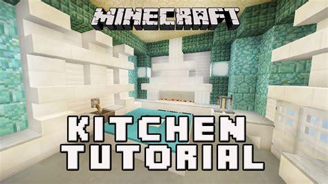 minecraft interior design kitchen minecraftl how to make a kitchen coral house build part 7507