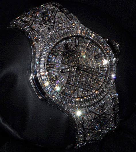 diamond encrusted   watches pinterest