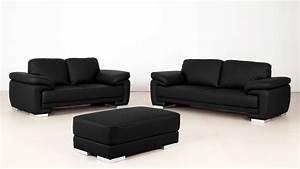 Sofa 2 3 Sitzer : sofa laura 2 sitzer bezug schwarz f e massiv silber mit nosagfederung ~ Bigdaddyawards.com Haus und Dekorationen